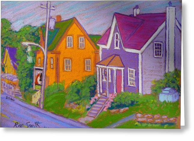 Pleinair Greeting Cards - Art Fair neighbour Greeting Card by Rae  Smith PSC