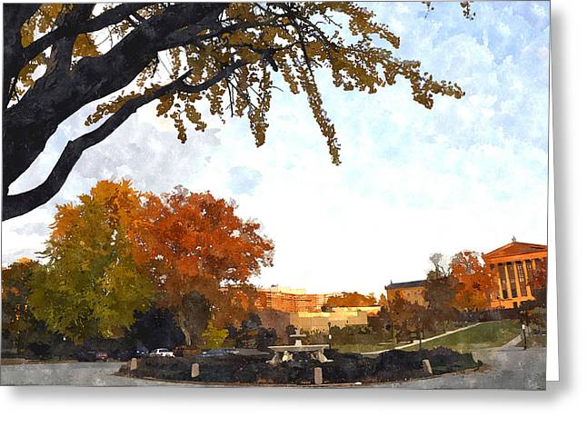 Art In The Fall Greeting Card by Andrew Dinh