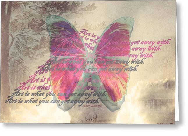 Art is ..... Greeting Card by Yvon van der Wijk