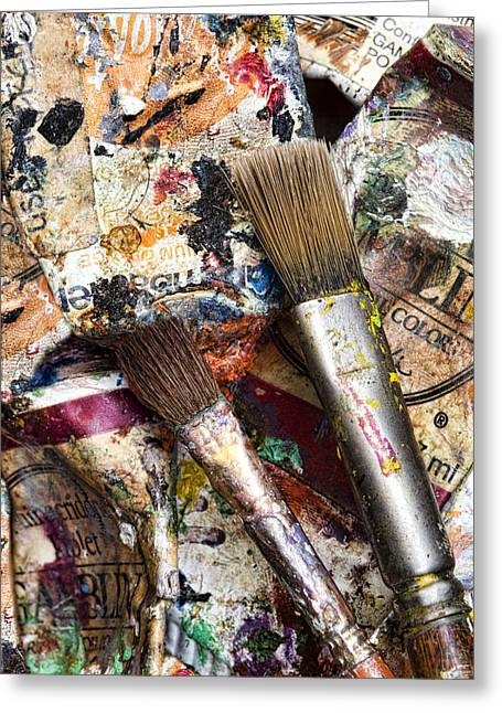 Art Is Messy Greeting Cards - Art Is Messy 1 Greeting Card by Carol Leigh