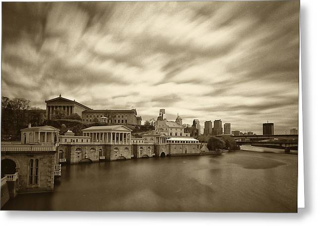 Philadelphia Greeting Cards - Art Museum Time Exposer Greeting Card by Jack Paolini