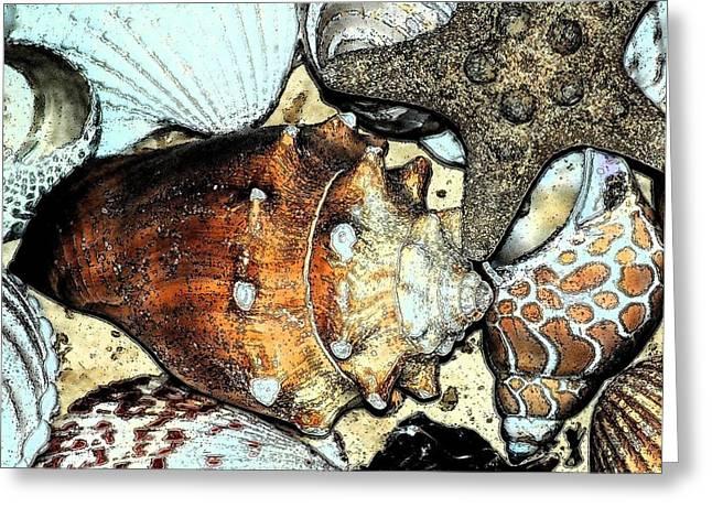 Sea Life Digital Art Greeting Cards - Art Shell 3 Greeting Card by Stephanie Troxell