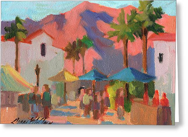 Festival Greeting Cards - Art Under the Umbrellas Greeting Card by Diane McClary