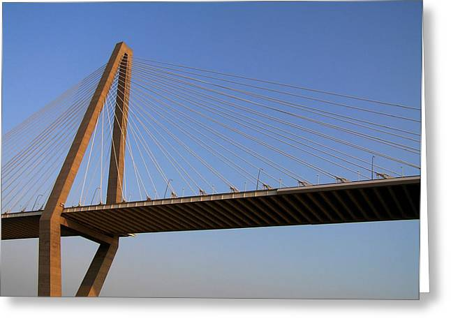 Charleston Greeting Cards - Arther Ravanel Jr. Bridge Greeting Card by Dustin K Ryan