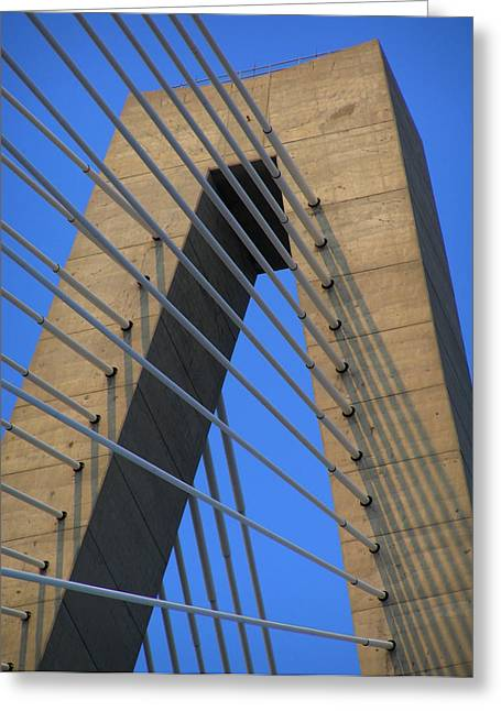 Charleston Greeting Cards - Arthur Ravanel Bridge Greeting Card by Dustin K Ryan