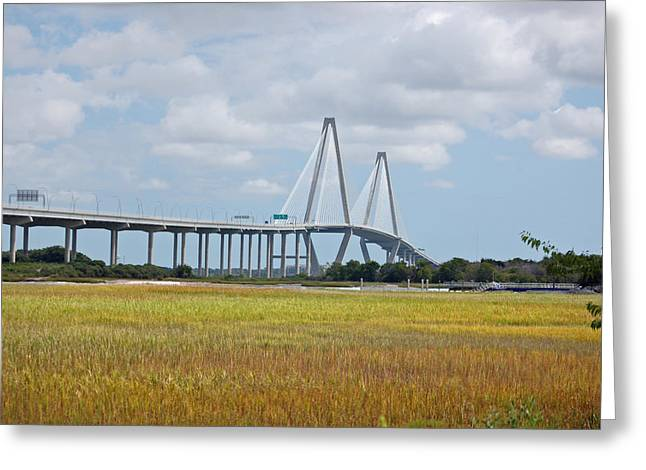 Donnie Smith Greeting Cards - Arthur Ravenel Bridge Greeting Card by Donnie Smith