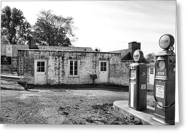 Self-government Greeting Cards - Arthurdale Gas Station I Greeting Card by Steven Ainsworth