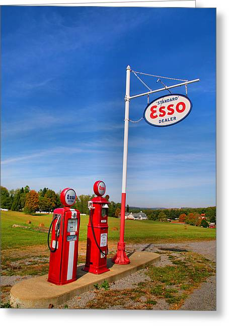 Self-government Greeting Cards - Arthurdale Gas Station II Greeting Card by Steven Ainsworth
