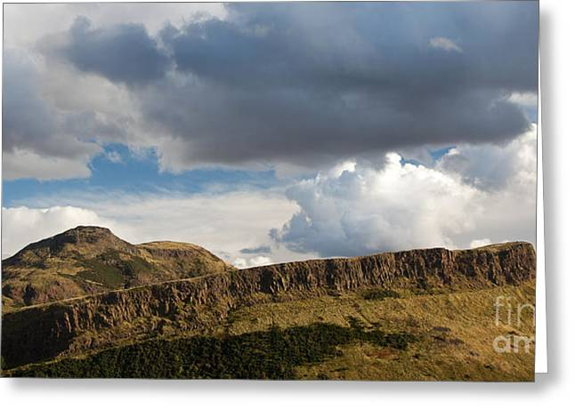 Steven Gray Greeting Cards - Arthurs Seat Greeting Card by Steven Gray