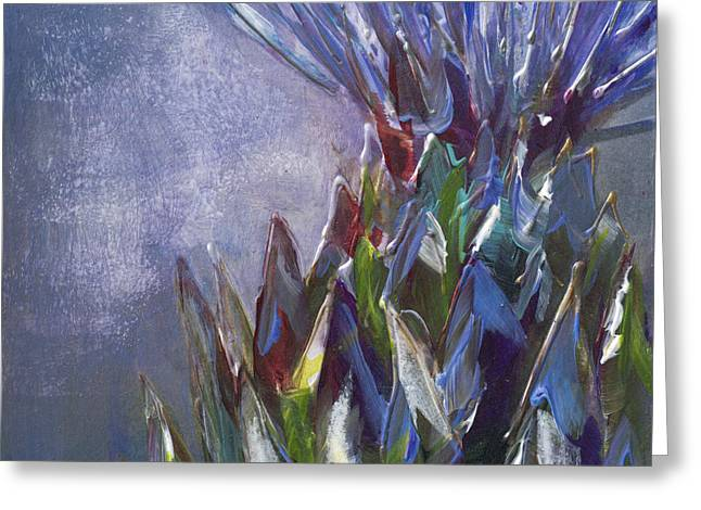 Barb Pearson Greeting Cards - Artichoke Burst Greeting Card by Barb Pearson