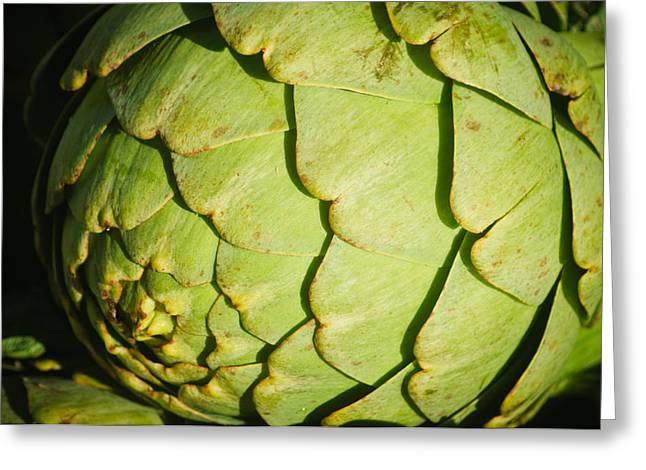 Reflection Harvest Greeting Cards - Artichoke Greeting Card by Connie Cooper-Edwards