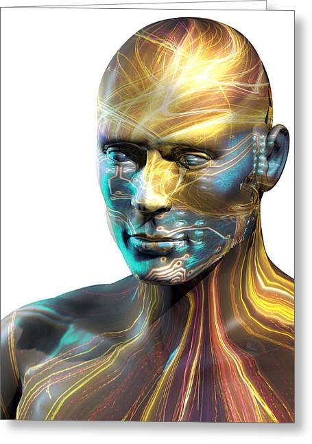 Artificial Intelligence, Conceptual Art Greeting Card by Laguna Design