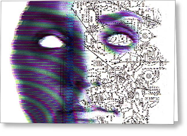 Artificial Intelligence Greeting Card by Neal Grundy