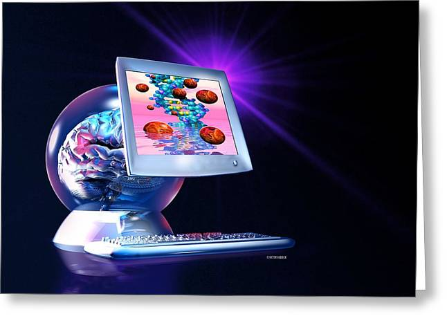 Embryo Greeting Cards - Artificial Intelligence Greeting Card by Victor Habbick Visions