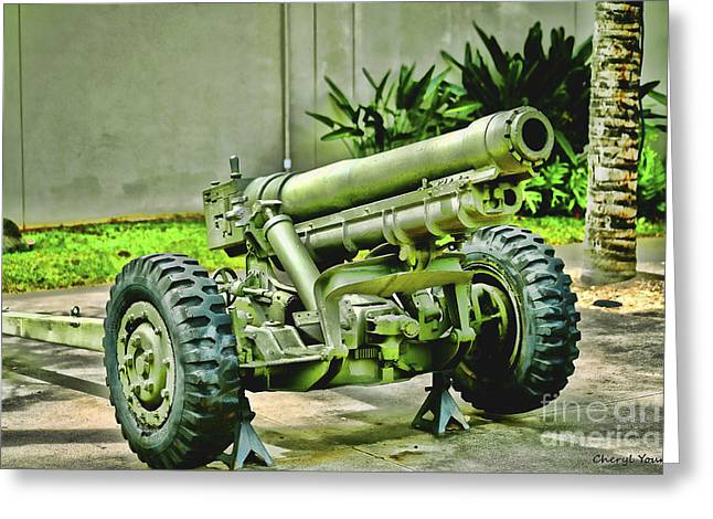 Artillery Greeting Card by Cheryl Young