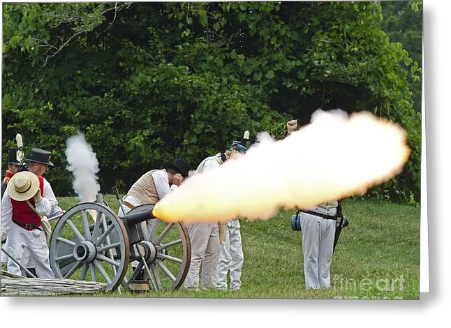 In 1812 Greeting Cards - Artillery Demonstration Greeting Card by JT Lewis