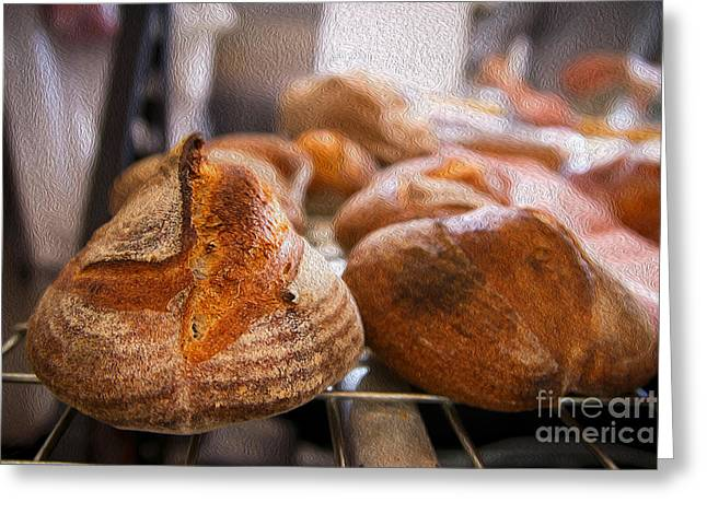 Freshly Baked Bread Greeting Cards - Artisan Bread Greeting Card by Jorge Malo