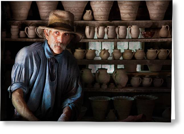 Hdr Look Greeting Cards - Artist - Potter - The Potter II Greeting Card by Mike Savad