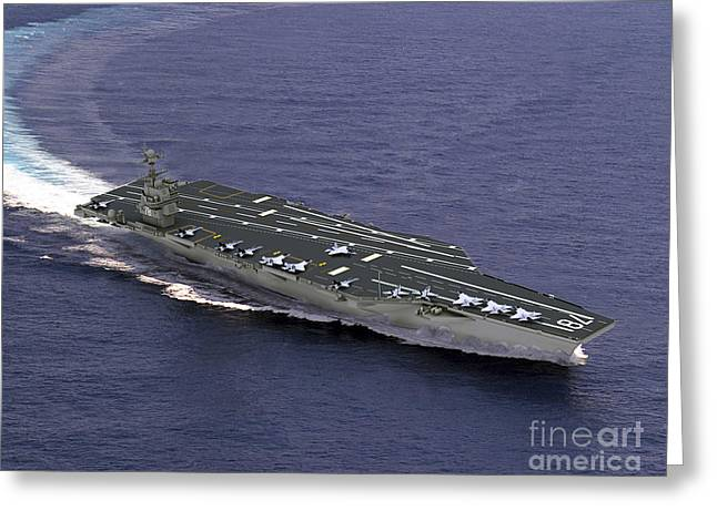 Artist's Concept Of Cvn-21, One Greeting Card by Stocktrek Images