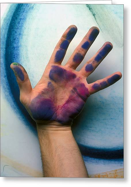 ist Photographs Greeting Cards - Artist Hand Greeting Card by Garry Gay