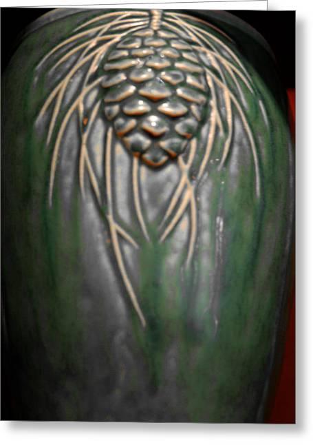 Artistic Pine Cone Vase Greeting Card by LeeAnn McLaneGoetz McLaneGoetzStudioLLCcom