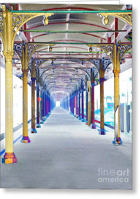 Artistic View - Albury Station Greeting Card by Kaye Menner