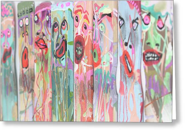 Expressive Sculptures Greeting Cards - Artisticks Greeting Card by Michael Jude Russo