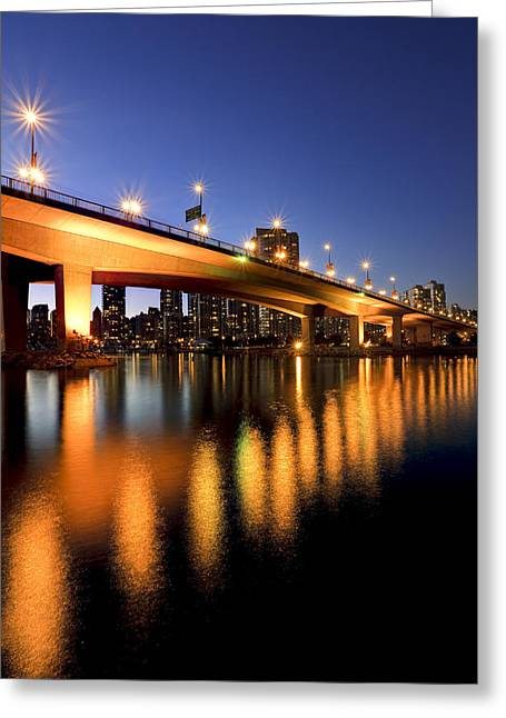 Cambie Bridge Greeting Cards - Artists Choice View Under Cambie Street Greeting Card by Ron Watts
