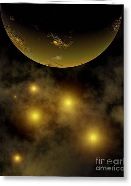 Luminous Globe Greeting Cards - Artists Concept Illustrating A Star Greeting Card by Mark Stevenson