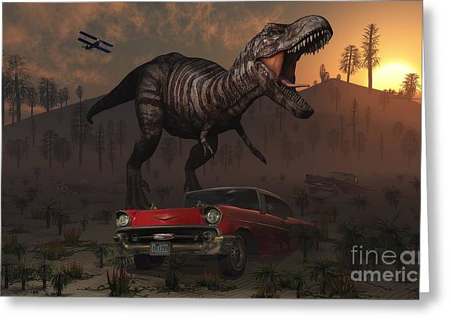 Primeval Greeting Cards - Artists Concept Illustrating Greeting Card by Mark Stevenson