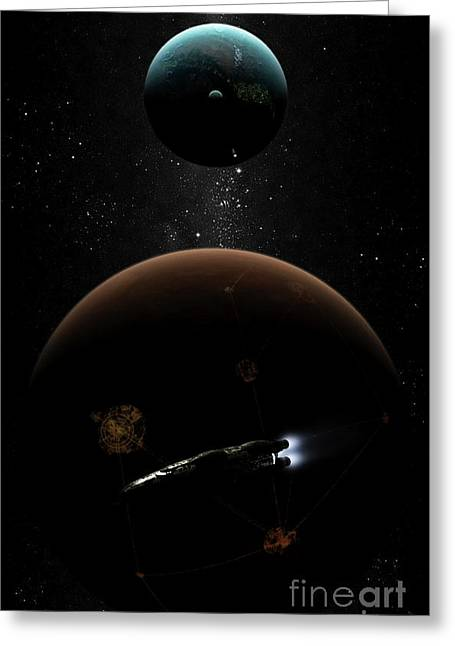 Interstellar Travel Greeting Cards - Artists Concept Illustrating The Laws Greeting Card by Brian Christensen