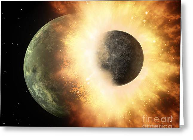 Artists Concept Of A Celestial Body Greeting Card by Stocktrek Images