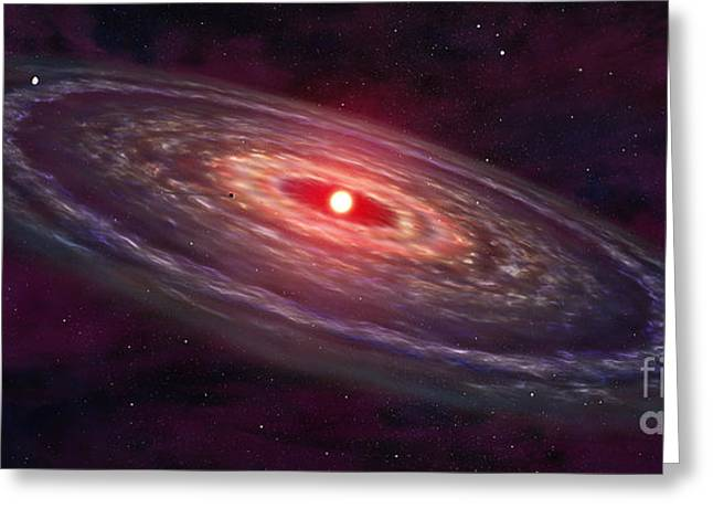 Disk Greeting Cards - Artists Concept Of A Protoplanetary Greeting Card by Frieso Hoevelkamp