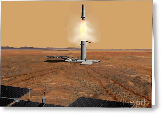 Artists Concept Of An Ascent Vehicle Greeting Card by Stocktrek Images