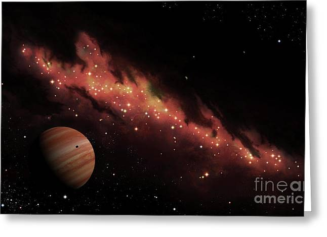 Twinkle Greeting Cards - Artists Concept Of An H Ii Region Greeting Card by Brian Christensen
