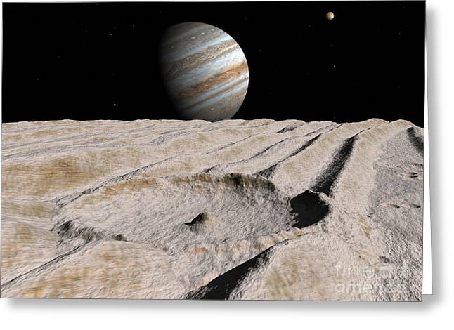 Astrogeology Greeting Cards - Artists Concept Of An Impact Crater Greeting Card by Walter Myers
