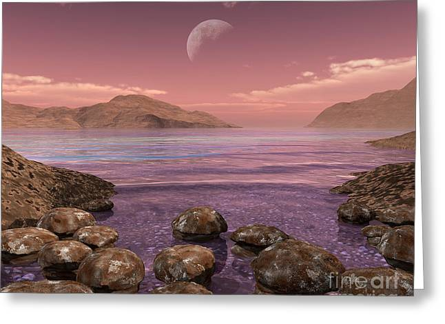 Artists Concept Of Archean Greeting Card by Walter Myers
