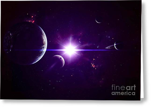 Gas Giant Greeting Cards - Artists Concept Of Jovian Planets Greeting Card by Kevin Lafin