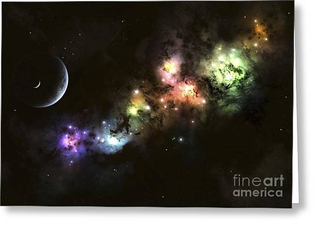 Artists Concept Of Planet Carenteen Greeting Card by Kevin Lafin