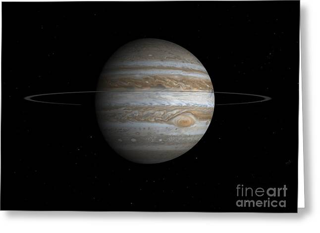 Disk Greeting Cards - Artists Concept Of The Planet Jupiter Greeting Card by Walter Myers