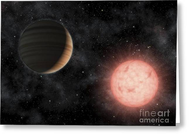 Rendition Greeting Cards - Artists Concept Of The Smallest Star Greeting Card by Stocktrek Images