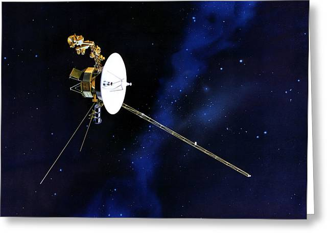 Probe Greeting Cards - Artists Concept Of Voyager Greeting Card by Stocktrek Images