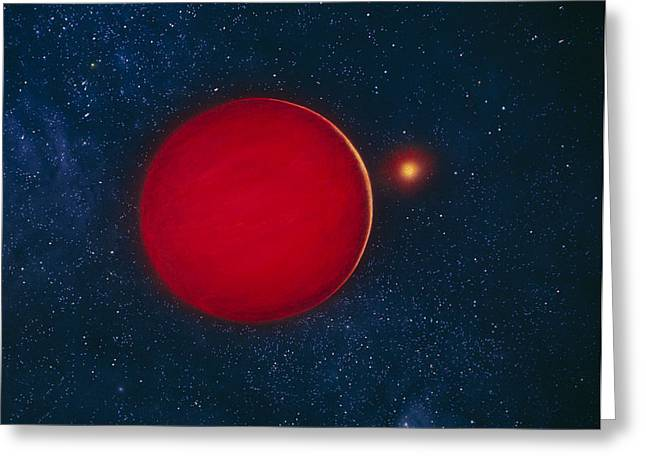 Missing Greeting Cards - Artists Impression Of Brown Dwarf Star Greeting Card by Chris Butler
