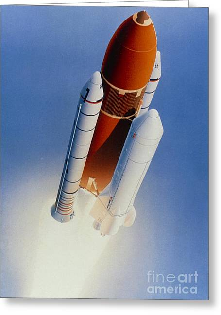 Launcher Greeting Cards - Artists Impression Of Shuttle-c Launch Greeting Card by NASA / Science Source