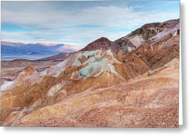 Panamint Valley Greeting Cards - Artists Palette Death Valley Greeting Card by Dean Pennala