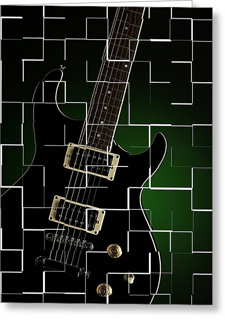 Guitar Pictures Greeting Cards - Artsy Electric Guitar Greeting Card by M K  Miller