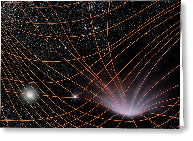 Warp Photographs Greeting Cards - Artwork Illustrating The Concept Of Warped Space Greeting Card by Julian Baum