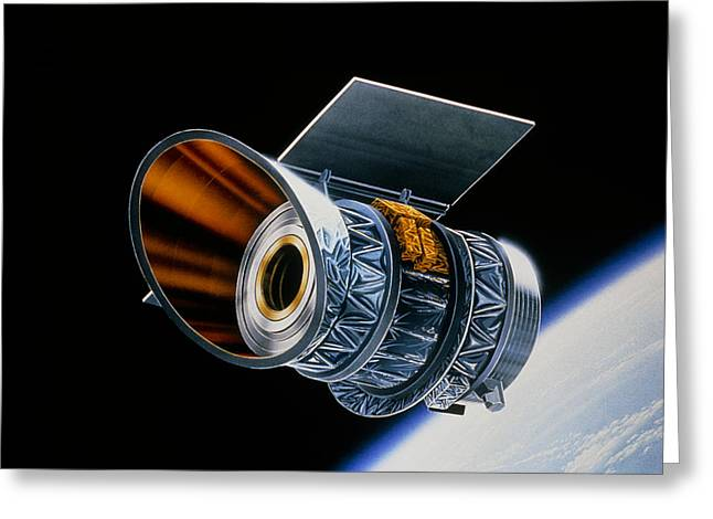 Ira Greeting Cards - Artwork Of Iras In Orbit Greeting Card by David Parker