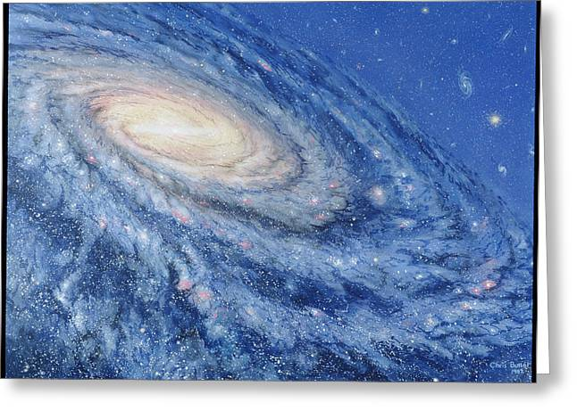 Helix Greeting Cards - Artwork Of The Milky Way, Our Galaxy Greeting Card by Chris Butler