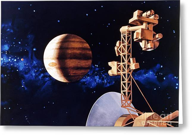 Interstellar Greeting Cards - Artwork Showing Voyager Approaching Greeting Card by NASA / Science Source